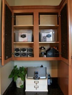 An organized cabinet space