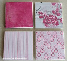 Mother's Day Gift - DIY Coasters - Setting for Four