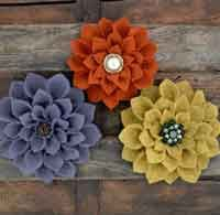 DIY Felt Flowers: 50 Free Felt Flower Patterns and Tutorials. Instructions and tutorials for making all kinds of felt flowers.  VisitSite: http://allcrafts.net/feltflowers.htm