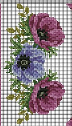 The picture called 55 Gráficos de Flores em Ponto Cruz – Grátis para Baixar Cross Stitch Rose, Cross Stitch Flowers, Cross Stitch Charts, Cross Stitch Designs, Cross Stitch Patterns, Cross Stitching, Cross Stitch Embroidery, Embroidery Patterns, Hand Embroidery