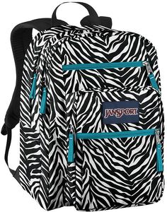 Jansport Blue Zebra Backpack | Frog Backpack