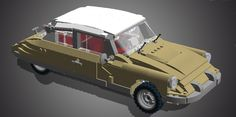 This is a model of the coolest car ever built, the Citroen DS 19. It has the following features:-It perfectly fits to the already existing Lego Volkswagen T1 Campingbus (10220...