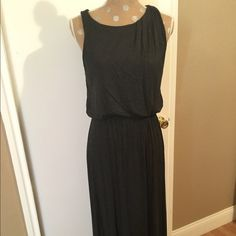 Maxi Dark Gray Knit Dress Maxi Dark Gray Knit Dress LOFT Dresses Maxi