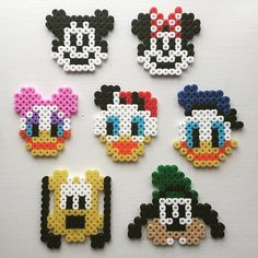 Mickey Mouse and friends hama beads by perlepige
