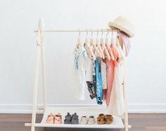 MINI Children's Clothing Rack (Cotton Canvas Shelf) Childrens room - Toy room - Dress up - Children's clothing