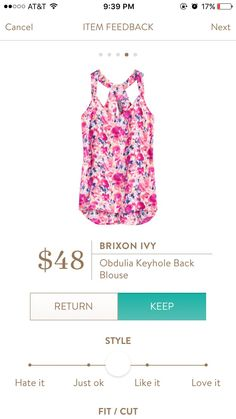 May 2016 fix - Brixon Ivy obdulia keyhole back blouse love color and pattern(Top 2016 Stitch Fix) Fix Clothing, Stitch Clothing, Stitch Fix Outfits, Stitch Fix Dress, Stitch Fix Stylist, Swagg, Look Fashion, What To Wear, Style Me