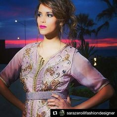 To purple lovers ♥ a wonderful caftan by @sarazeroilifashiondesigner ! You can order it now by contacting @sarazeroilifashiondesigner