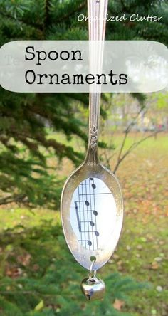 Repurposed Teaspoon Christmas Tree Ornaments www.organizedclutterqueen.blogspot.com