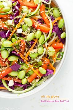 Rad Rainbow Raw Pad Thai #healthy