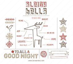 Sleigh Bells (Clipart) #christmas #clipart