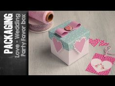 Love Box - Party Favor Box using Sizzix Big Shot Plus Starter Kit. Anna Draicchio for Creative Rox DT 2016 Heres the next video tutorial in my Packaging folder. Learn how to make a cute favor box for Wedding or Party, using Sizzix Big Shot Plus starter Making Wedding Invitations, Wedding Favor Boxes, Sizzix Big Shot Plus, Shots Ideas, Love Box, Craft Punches, Kid Party Favors, Party In A Box, Starter Kit