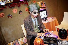 Chanyeol as Joker during Halloween