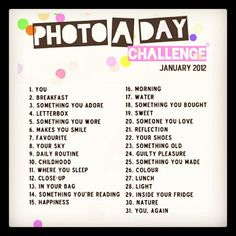 Photo a day Challenge.