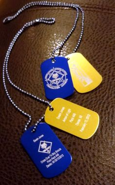 Cross Over, Arrow of Light, Cub Scouts to Boy Scouts Dog Tags. $16.00, via Etsy.