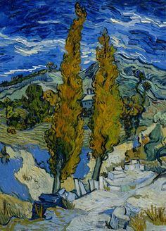 Vincent van Gogh | Poplars at Saint-Rémy, 1889