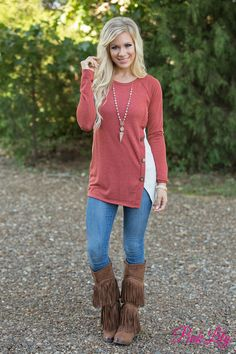 This beautiful blouse features so many gorgeous details - you're going to love this unique look!