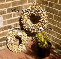 Unique cotton bur wreath by Corkycrafts on Etsy, $50.00