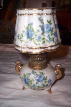 Vintage Royal Crown Miniature Porcelain oil lamp
