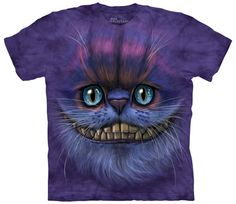 8d50fd30226fa women s t-shirt cheshire cat stonewashed multicolored graphic tee by  itsnotsplittingatoms on Etsy