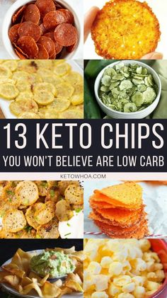 Diet Snacks 13 Best Homemade Low Carb Keto Chips Recipes Perfect for Snacking - Keto Whoa - Need a low carb snack to get you through your day? Here are 13 of the Best Homemade Low Carb Keto Chips Recipes you'll love to snack on! Keto Snacks, Healthy Snacks, Healthy Eating, Healthy Chips, Paleo Chips, Chips Chips, Healthy Rice, Healthy Chicken, Stay Healthy