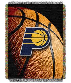 Indiana Pacers NBA Half-Court Baby Woven Jacquard Throw  61e84efcc