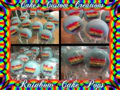 Rainbow Cake Pops Rainbow Cake Pops, Breakfast, Desserts, Food, Morning Coffee, Tailgate Desserts, Deserts, Essen, Postres