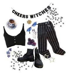"""witchcraft is upon us"" by freckled-ghost ❤ liked on Polyvore featuring Forte Forte, Dr. Martens, Tuleste and Jean-Paul Gaultier"