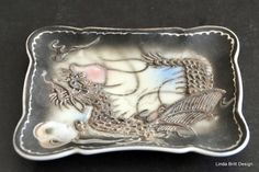 Vintage Moriage Dragonware Tray by BrittDesign on Etsy, $35.00