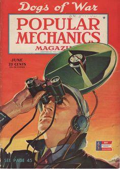 Vintage Magazine Cover: Airspotter from Popular Mechanics, June, 1942. $10.00, via Etsy.