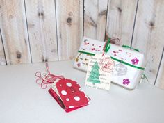 Butterflies In The Attic: 10 Christmas Gift Tags - Upcycled Books - Hand Stamped DieCut - Gift Wrap REFNO.11.13.39