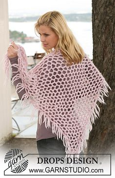 Ravelry: 123-22 Shawl pattern by DROPS design