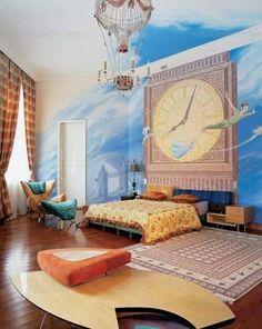 Huge Peter Pan wall  mural
