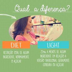 Diet X light: você sabe a diferença?