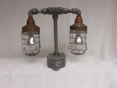 VINTAGE BARN LIGHT INDUSTRIAL  Explosion Proof TABLE LAMP Crouse-Hinds/Benjamin