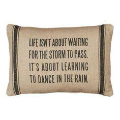 Vintage Sack Pillows - Dance in the Rain