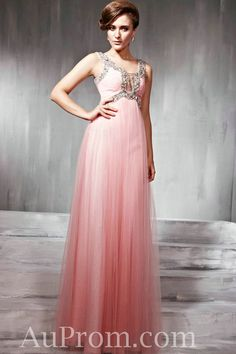 $253 Tulle Straps Beaded Empire Pink Affordable Maternity Prom Dress For Wedding On Sale,Organza Straps Beaded Empire Pink Affordable Maternity Prom Dress For Wedding On Sale - Buy best cheap formal prom dress from AuProm.com