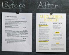 Examples of Resume Makeovers