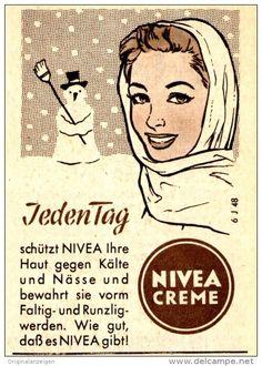 Original-Werbung/ Anzeige 1957 - NIVEA CREME  - ca.60 x 80 mm