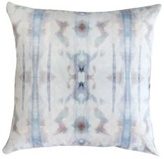 Pillow Pictured 18″ x 18″ 100% oyster linen pillow with 90/10 feather/down insert