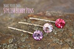 These gem bobby pins will look like jewels floating in your updo.