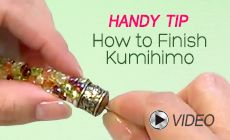 How to Finish Kumihimo