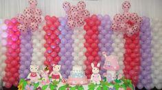 Painel de Balões - Hello Kitty