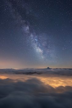 M ilky Way Above a Sea of Clouds | by RobertoBertero
