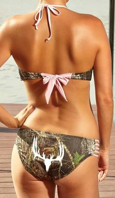 Pink camo bathing suit