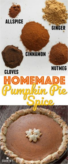 DIY Homemade Pumpkin Pie Spice Recipe from The Country Cook