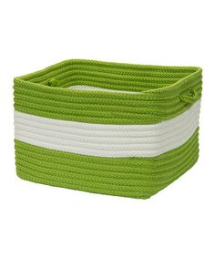 Take a look at this Bright Green Rope Walk Utility Basket by Colonial Mills on #zulily today!