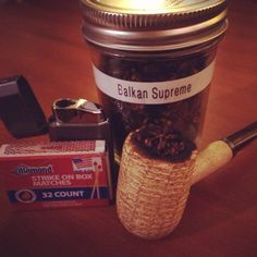 My corn cob pipe!