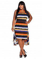 Web Exclusive: Striped Hi-lo Dress