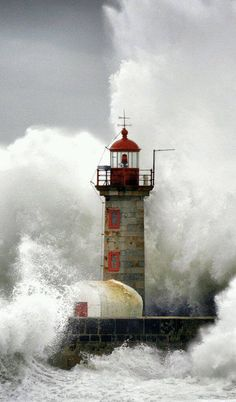 Everytime I see an old lighthouse, I think of the enormous effort that went into it's construction. Force of Nature, Foz do Douro, Porto, Portugal Beautiful World, Beautiful Places, Beautiful Pictures, Wonderful Places, Lighthouse Pictures, Porto Portugal, Douro, Beacon Of Light, Belle Photo