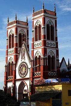 India Pondicherry. Voormalige franse koloniale stad. Heel anders weer dus